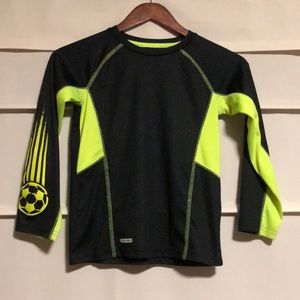 Boys long sleeve soccer T-shirt